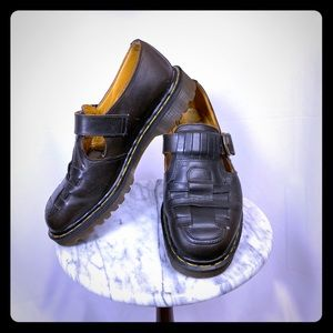 Dr Marten England Vintage Woven Mary Jane